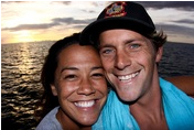 Stuart-n-Malia Johnson at FijiSurfco.blog.  They provide tours, and are full time photographers for Cloudbreak, Restaurants Fiji surf trips.