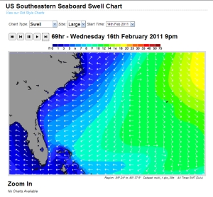 Predicted Swell chart for Wed. 2/16 PM EST, compliments of Magicseaweed.com