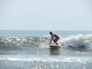 Chad dropping in on a nice glassy right...