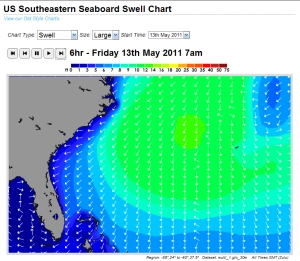 Our swell chart at 7 Am this Friday morning, compliments of magicseaweed.com
