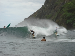 Imagine this wave for Sunday morning ;) My buddy Rob surfing Costa Rica in June of 2008, at Ollies.