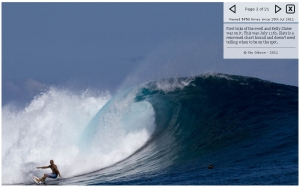 Kelly Slater taking a detour from the J-Bay event on the ASP tour, to catch the perfect and massive swell to hit Fiji, compliments of Magicseaweed.com, and photographer © Stu Gibson - 2011