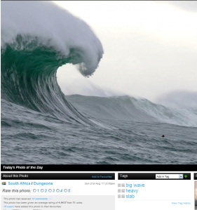 Just kidding, this is Dungeons , S. Africa from yesterday, Sunday, Aug. 21,2011 compliments of magicseaweed.com