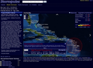 Tropical disturbance now with 35 mph winds, compliments of Stormpulse.com