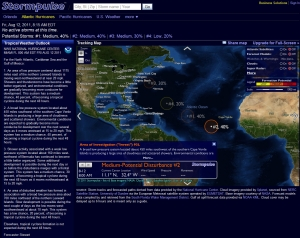 Friday morning, August 12 2011, 3 Tropical Disturbances being tracked from Africa, headed our way, 2 of which have a 40% chance of becoming a Hurricane within 48 hours, compliments of Stormpulse.com