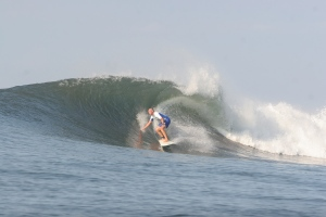 Clay in a sweet barrel in Punta Mango, El Salvador.  Photo provided by my buddy Rob in Newport Beach, Ca.