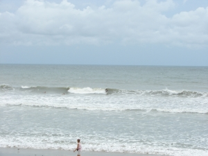 Nice shoulder high left at Perkins, Tropical Depression Ophelia, photo by oldwaverider