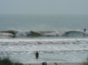 Maybe a 2nd chance at a barrel?  Photo by Mike Melito, an old surf buddy. Hurricane Irene, the 2nd day. Pic 1