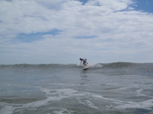 A fun little thigh high left, taken by Jenna, Sept. 9 2011, Tropical Storm Maria last day.