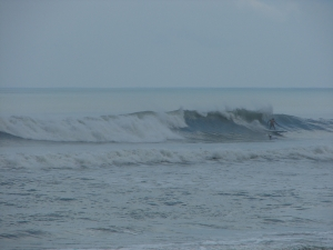 What a fun ride this guy had.  Image 6 of 6 sequence.  I ran out of camera time or I would have taken this ride to shore with him.   O' Club, Hurricane Katia.  photo by oldwaverider