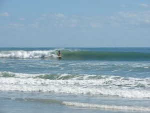 Image 2 of 6 shot sequence. Little bowl section behind the Florida Gator Girl. Hurricane Ophelia brought beautiful waves for the Cape and Johnson Avenue, Sunday October 2 2011. photos by oldwaverider :)