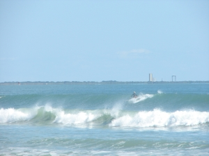 Image 1 of 3 shots.  A nice wall and the KSC in the background, it doesn't get much better for a place to be :)  oldwaverider