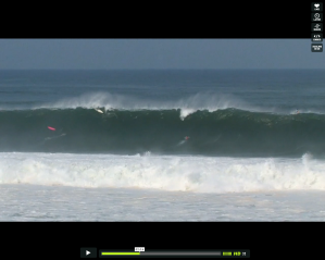 Screenshot of 10 foot surfboards on the wave face in Puerto Escondido Mexico in June 2011, compliments of Magicseaweed.com