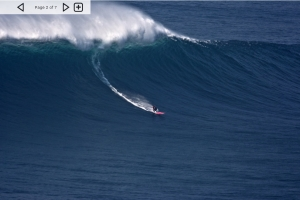 Massive swell hit Nazare, Portugal on October 17 2011.  Billabong XXL 2012 contender.  See the article at Magicseaweed.com