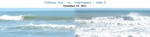 Johnson Ave. vs. Hightowers - take 2.  It's fun doing the merged comparison. oldwaverider