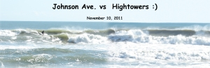 I had to do one ridiculous photo merge.  Johnson Avenue vs Hightower on a 6 foot at 10 second ENE ground swell with offshore winds.  Photo merge by Anonymous :)