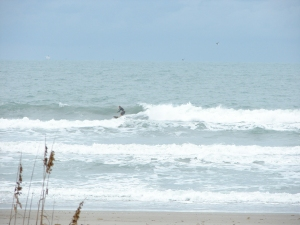 Image 2 of 6 sequence, Chad on the best size wave I saw, NE windswell at Johnson Avenue on December 10 2011 around 2 PM.