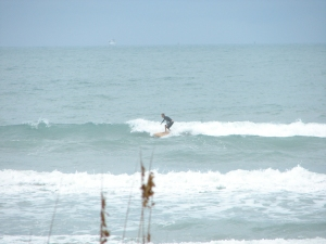 Image 2 of 5 on this right of Chad.  Johnson Avenue on the remaining NE wind swell we had.