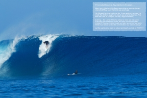 Cloudbreak, Fiji photo by Stu and Malia Johnson.  I dropped in the Poem.  Art