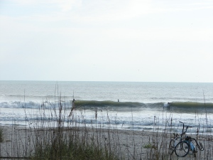 Nice rib to maybe chest high right at Johnson Ave.  Surfer? Who?  1 of 2 shot sequence.  From February 22 ene swell.