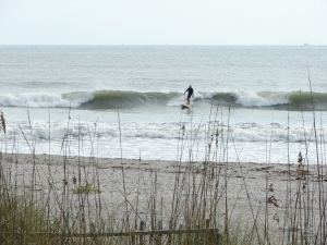 Looks like he's thinking about using this wave as his bus ride in...image 6 of 7 in sequence.