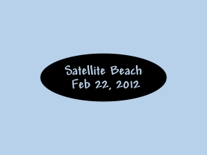 Starts Satellite Beach photos from today also.