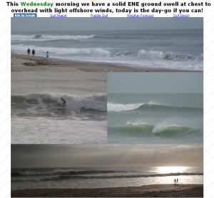 I had to show you these pictures from Indialantic from thewavecaster.com for Feb. 22 today