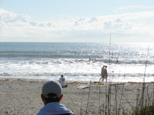 This is the same long ride by Lacey.  Finally out of the direct sun, as she approaches shore. Image 7 of 10 in the ride.
