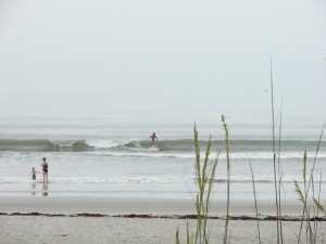 May 16, 2012, nice 1.5 foot groundswell at Johnson Ave.  New guy Chuck on a nice left, Image 3 of 5 shot sequence.