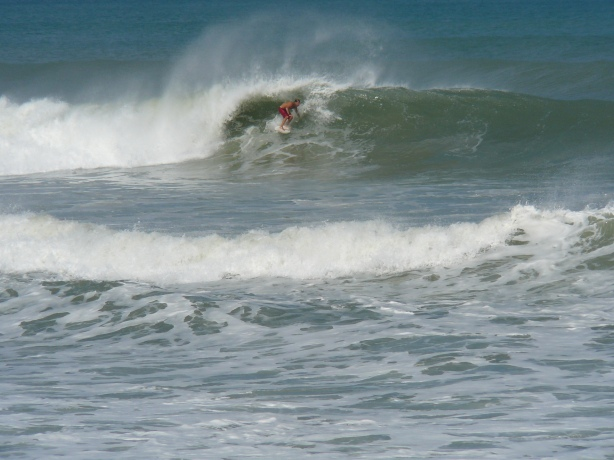 A barrell on this on, RC's , Satellite Beach, Hurricane Leslie, epic Saturday, September 8 2012, photos by Mike Melito