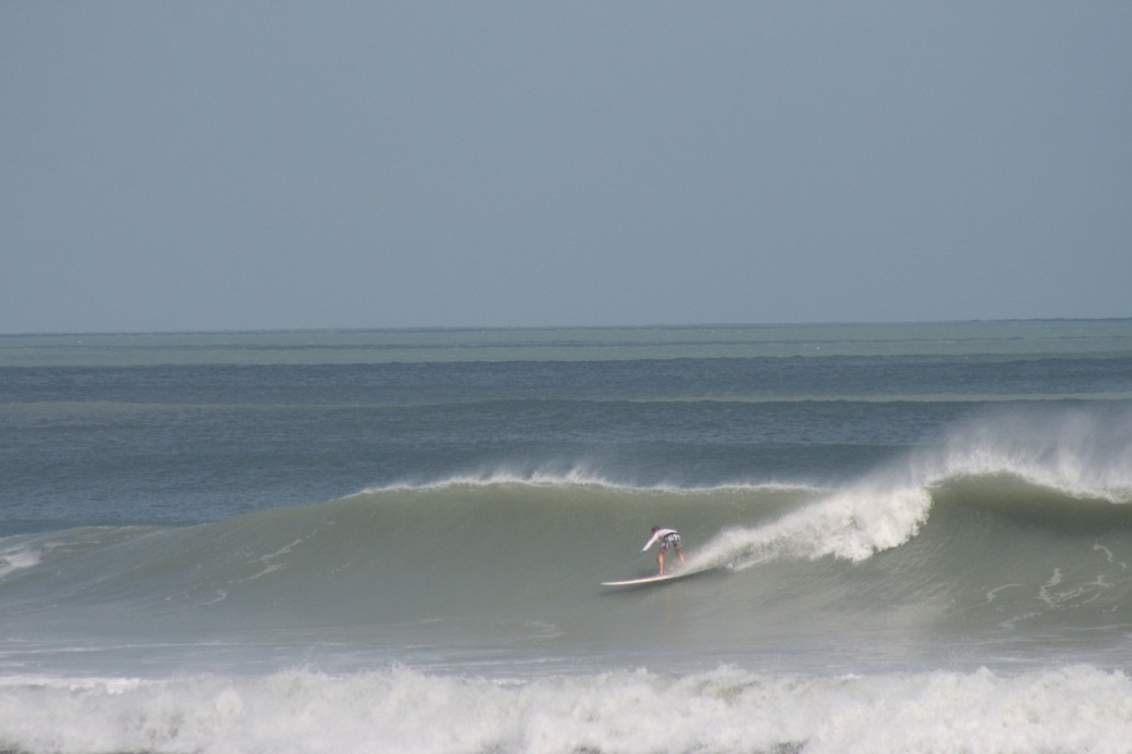 Hurricane Sandy delivered some epic waves on Sunday.  Image 2 of 4 shot sequence.