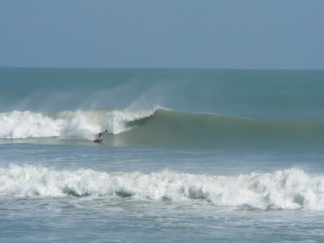 Nice big left in South Cocoa Beach, Hurricane Sandy, by Mike Melito