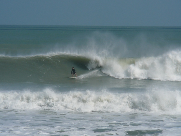 Almost in the pocket, South Cocoa Beach, Hurricane Sandy, by Mike Melito
