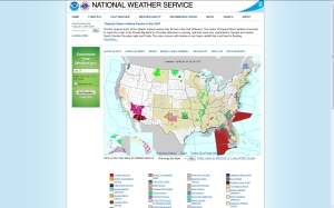National Weather Service website, a screenprint as of 9:20 PM 06-05-13, http://www.weather.gov/