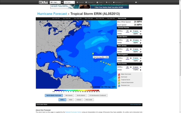Compliments of Magicseaweed.com hurricane tracking screenshot