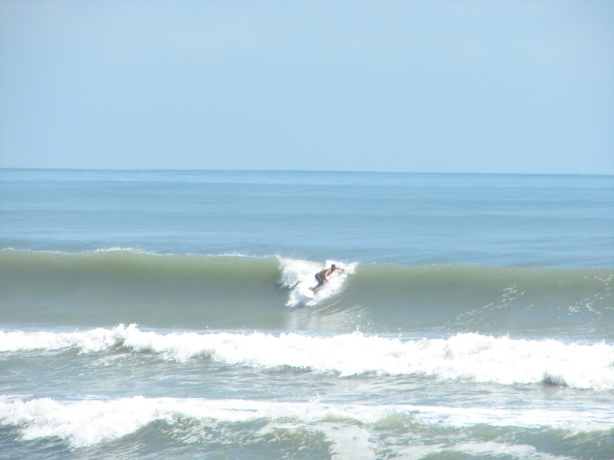 Same size, expect a little smaller up North here, down South in Satellite, but not as glassy.  This was actually a Hurricane Katia photo from Sept 2011, by Oldwaverider