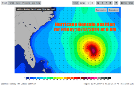Hurricane-Gonzalo-Swell-Chart-for-Friday-10-17-14-at-6AM-as-of-Monday-10-13-14-6AM, Image compliments of Magicseaweed.com