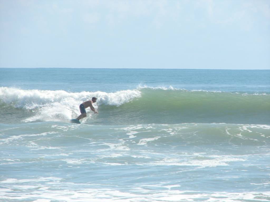 My buddy Ken from Melbourne, going left at 4rth street North, at the Melito resort.  Hurricane Maria, 2011