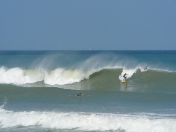 Photos by Mike Melito, a 3 foot at 12 second period swell, the one coming Friday is 2.5 feet at 12 seconds, so I like to show this for optimism that it could be big :) sept 2012 hurricane 029
