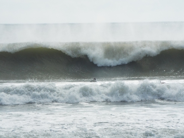 One of the thick lip cleanup sets, that kept us inside a while :) There were some 6-9 foot faces, even up North for us at the Cape with Hurricane Ida